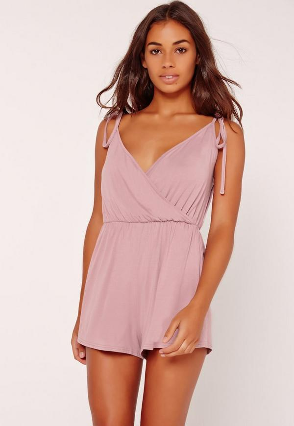 Wrap Front Jersey Teddy Lilac