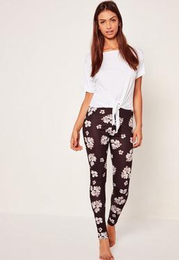 Pyjama legging imprimé floral