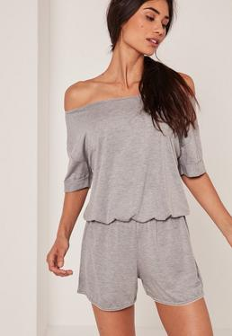 Scallop Edge Jersey Teddy Grey