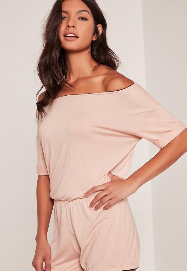 Nude Jersey Scallop Edge Teddy
