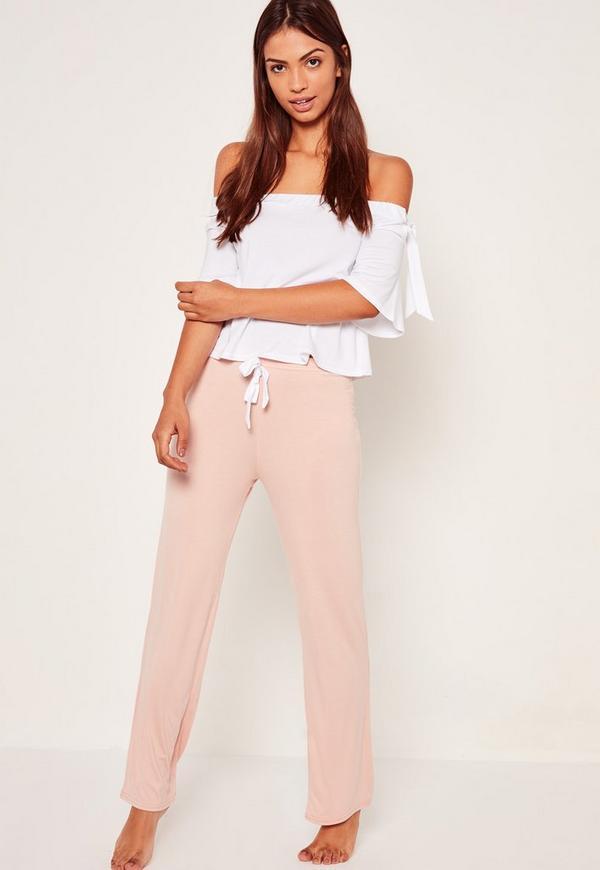 White Bardot Pyjama Set