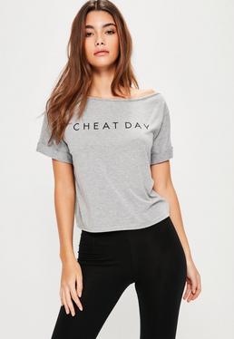 Grey Slogan Pyjama Set