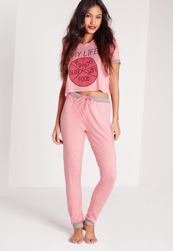 My Life Pyjama Set Pink