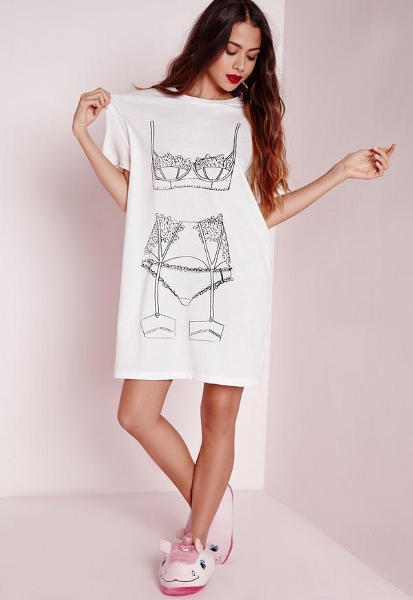 Lingerie Night Shirt White