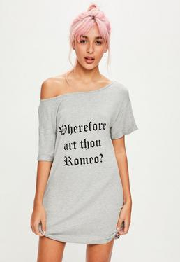 Camisón Romeo en gris
