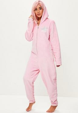 Pink Fleece Onesie