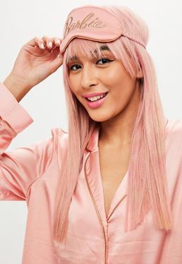 Barbie x Missguided Różowa opaska na oczy z logo