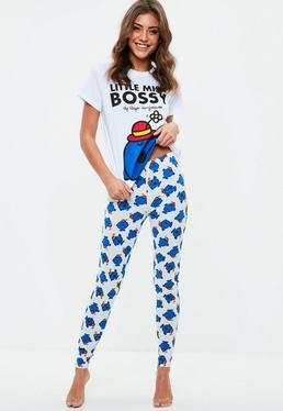 White Little Miss Bossy Pyjama Set