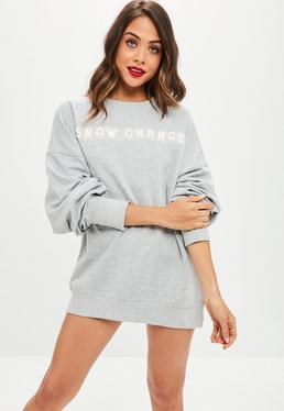 Grey Snow Chance Sweat Dress