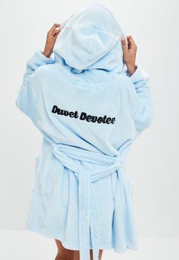 Blue Duvet Devotte Robe