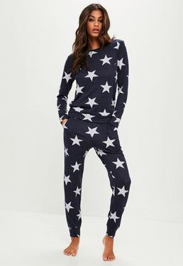Navy Star Print Lounge Set