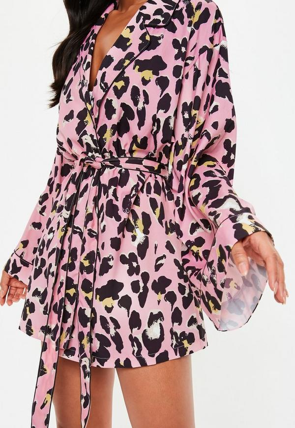 848a17ca9cb2 ... Pink Leopard Print Dressing Gown. Previous Next