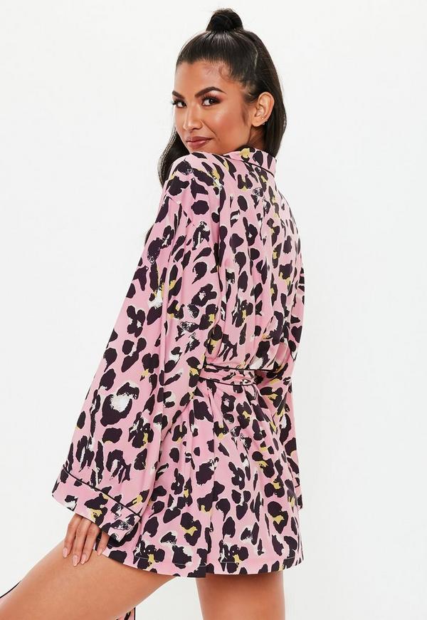 c1da66f483 ... Pink Leopard Print Dressing Gown. Previous Next