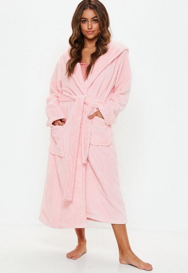 db637ca22c ... Nightwear    pink fluffy long length dressing gown. Previous Next