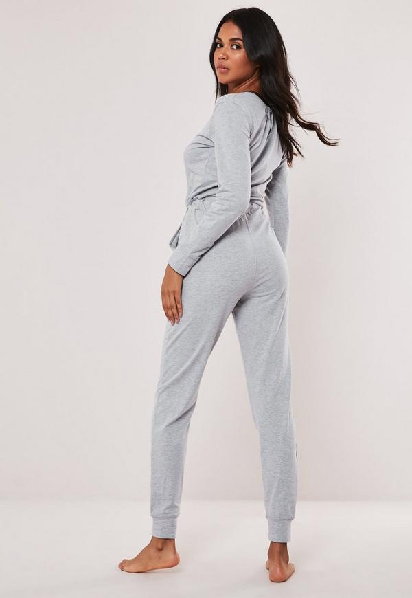 c2894ed420f Grey Casual Loungewear Jumpsuit. Previous Next