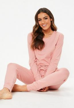 Pink Loungewear Jumpsuit