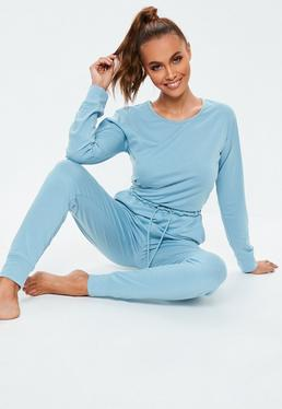 Blue Jumpsuits. Grey Lounge Set. Cropped Hoodies. Casual Jumpsuits 040199bf7