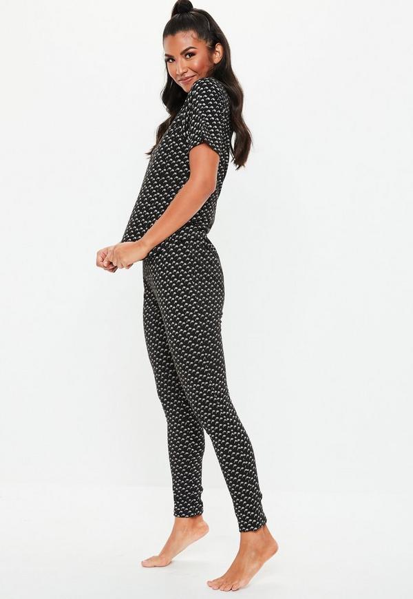 b9634cfa03 ... Print T shirt   Leggings Pajamas Set. Previous Next