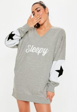 black bridesmaid nightdress · Grey Sleepy Oversized Night Sweatshirt c06b824ec
