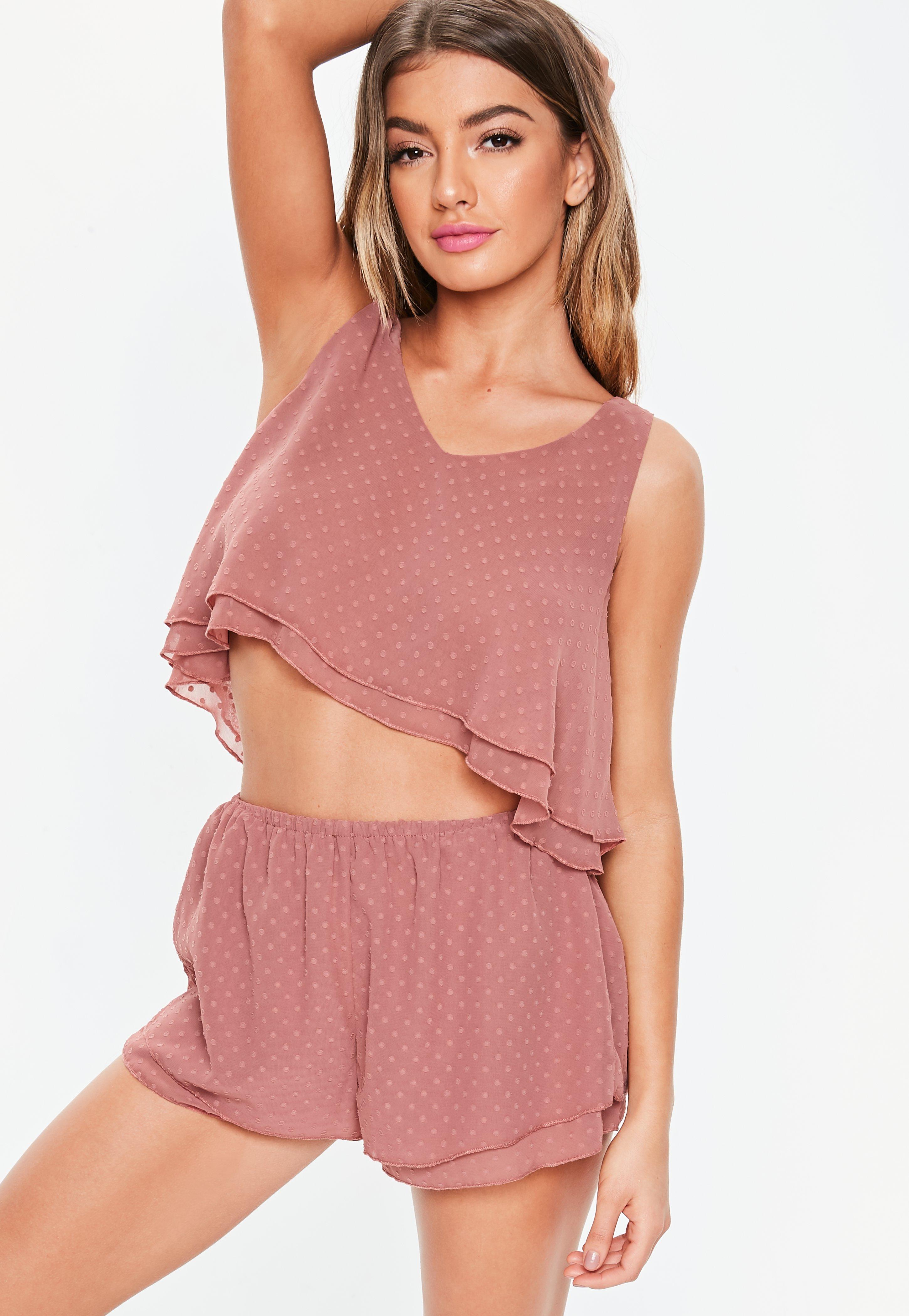 1330932aefa055 Różowy komplet piżamowy w groszki | Missguided