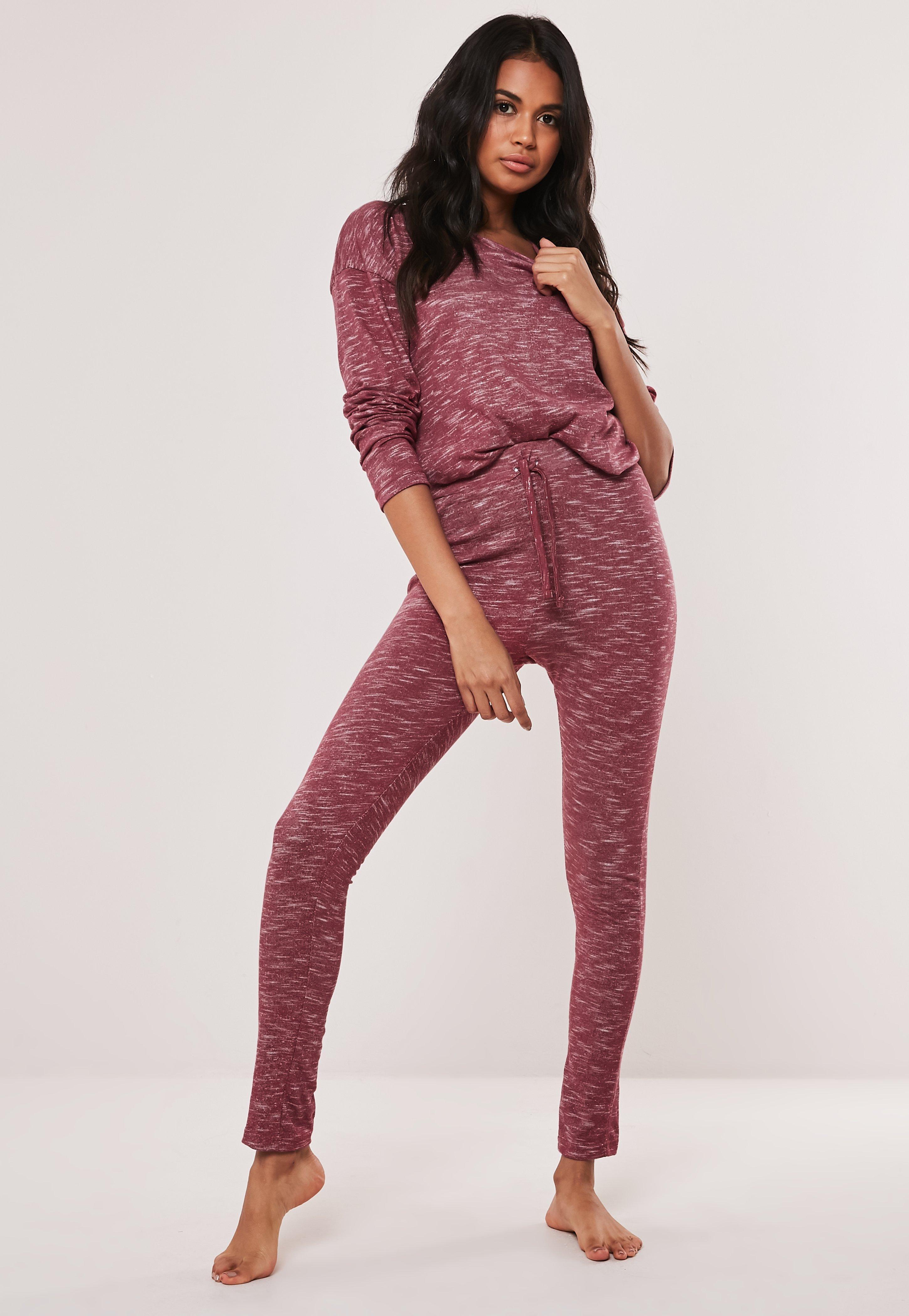ac847e5e7e Rose Soft Knit Long Sleeve Loungewear Tracksuit