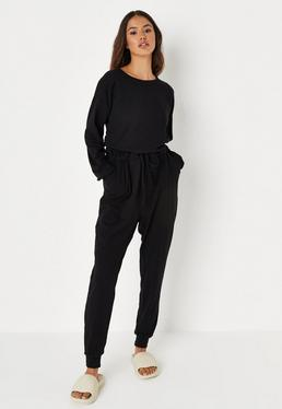 f388ab50bb ... Black Casual Loungewear Jumpsuit