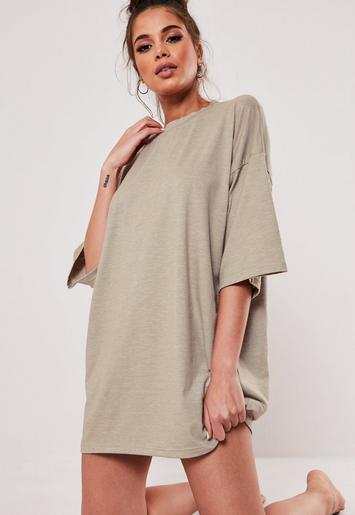 Beige Mix And Match Oversized Night T Shirt by Missguided