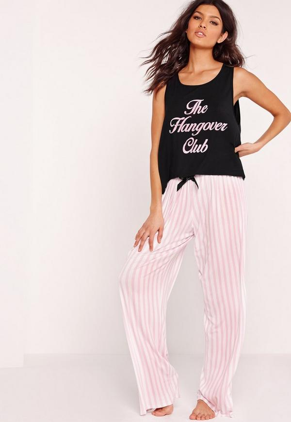 The Hangover Club Pyjama Set Black