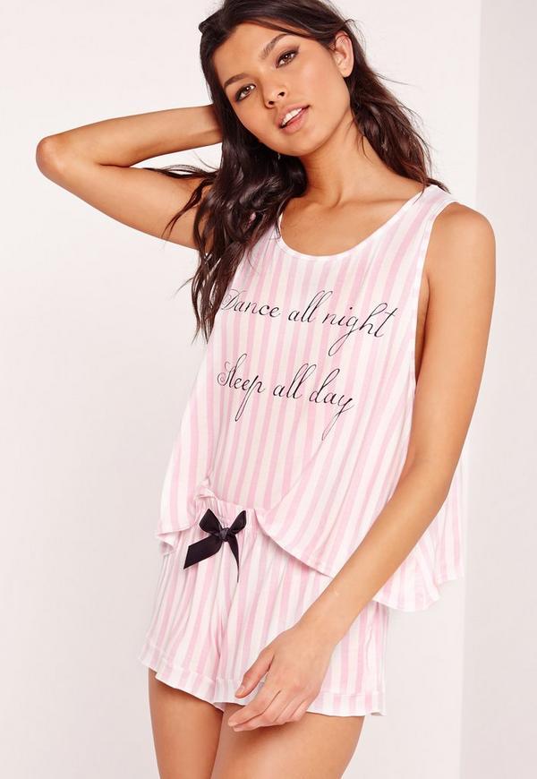 Dance All Night Pyjama Set Pink