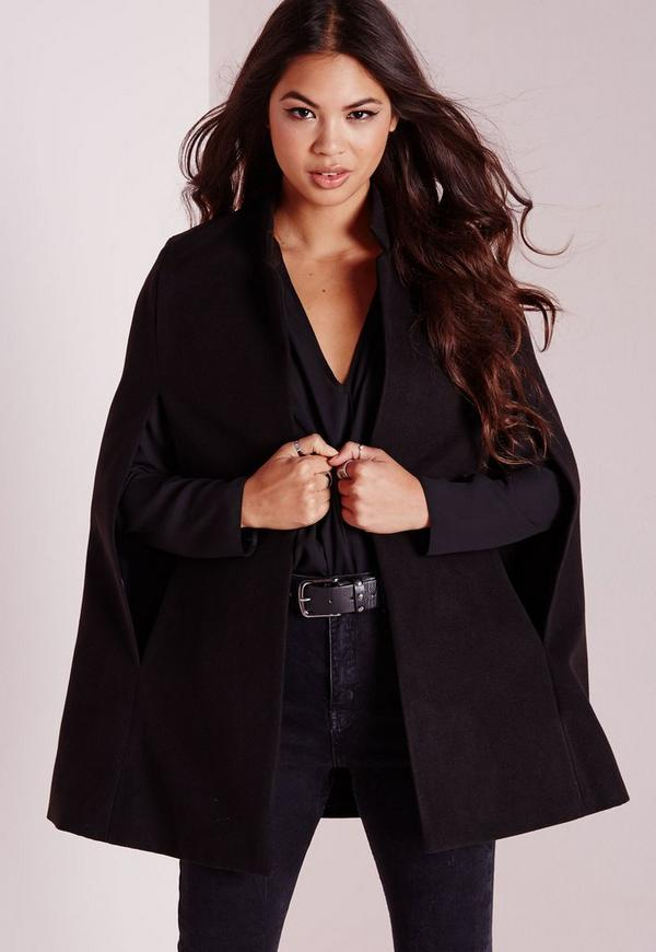 Wool Blazer Cape Black