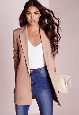 Blazer long nude