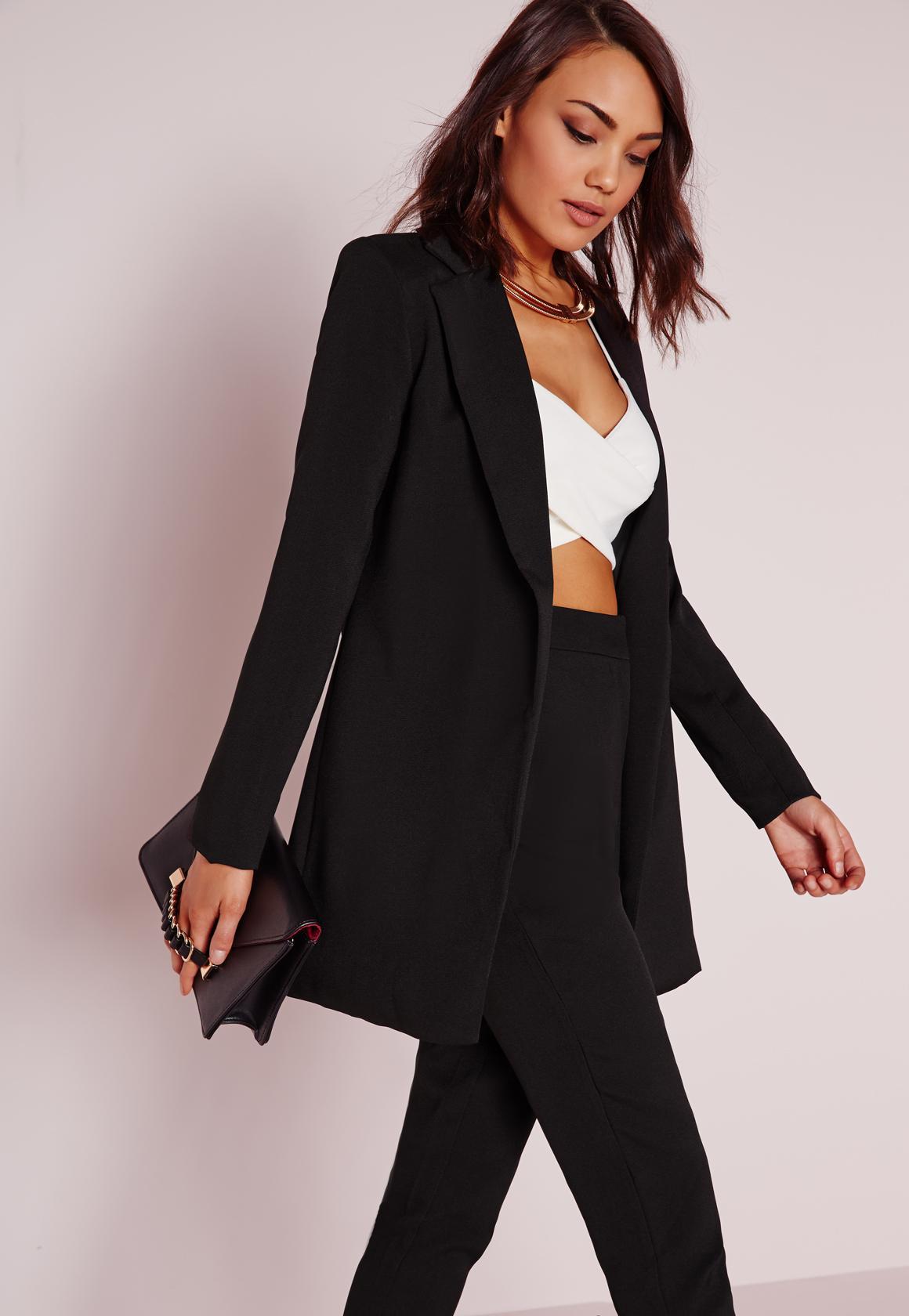 long black blazer for women