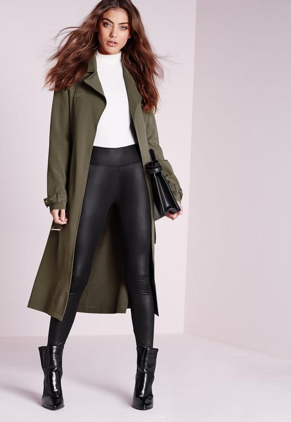 Military Trench Coat Khaki | Missguided