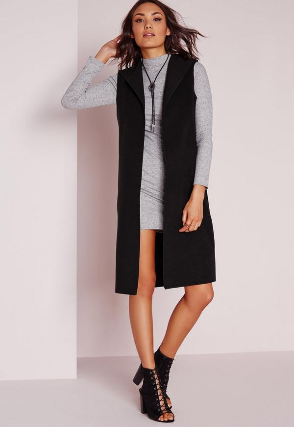 Sleeveless Jacket Black | Missguided
