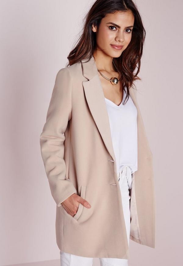 short faux wool coat mink