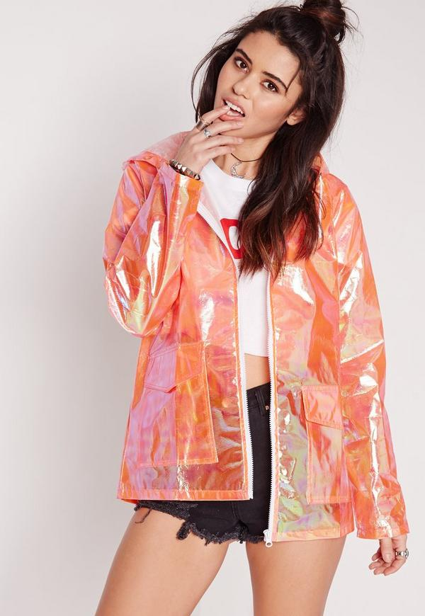 Holographic Rain Mac Pink Missguided