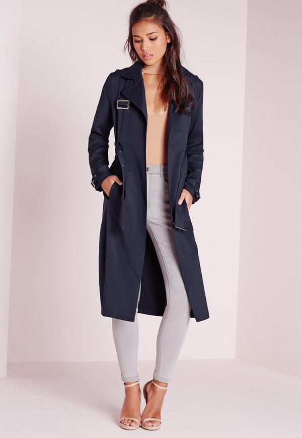 Military Trench Coat Navy