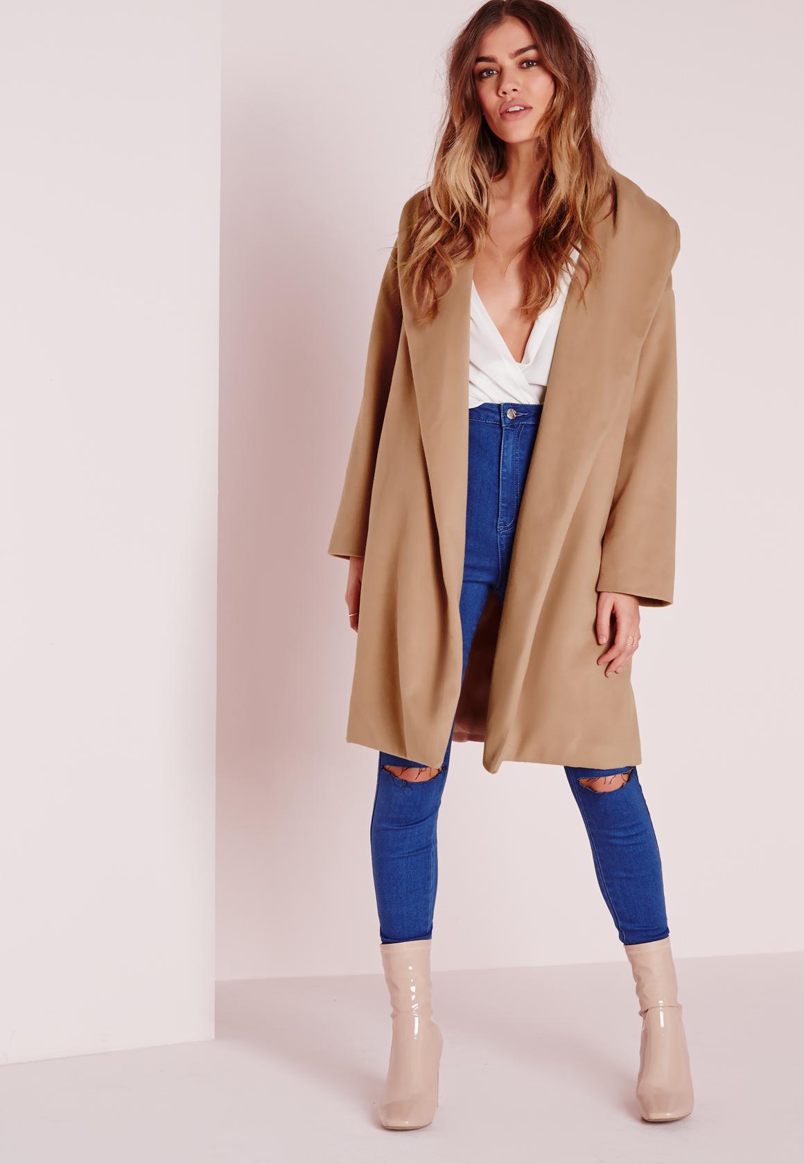 long wool boyfriend coat camel missguided #1: long wool boyfriend coat camel product page zoom 1x