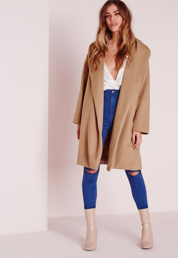 Long Wool Boyfriend Coat Camel