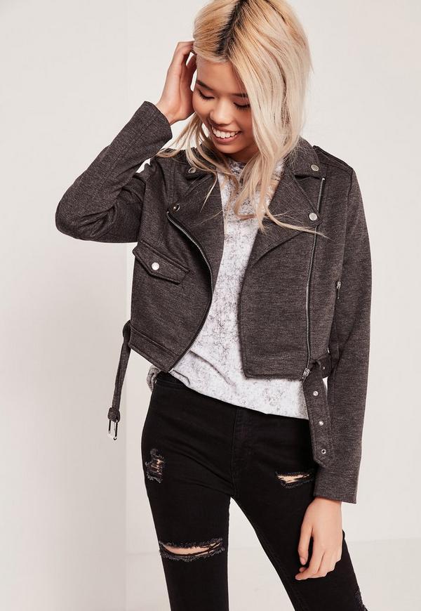 Ponte Biker Jacket Grey