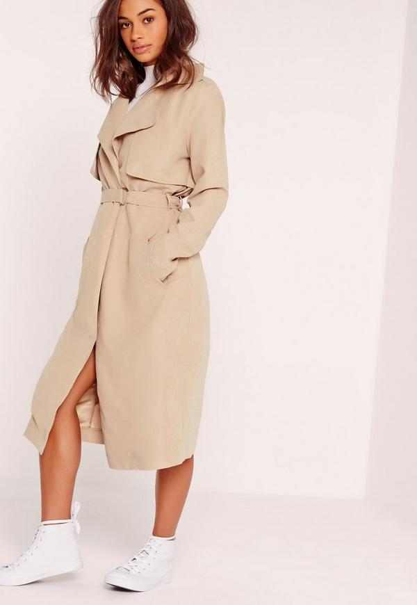 Soft Touch Belted Trench Coat Nude