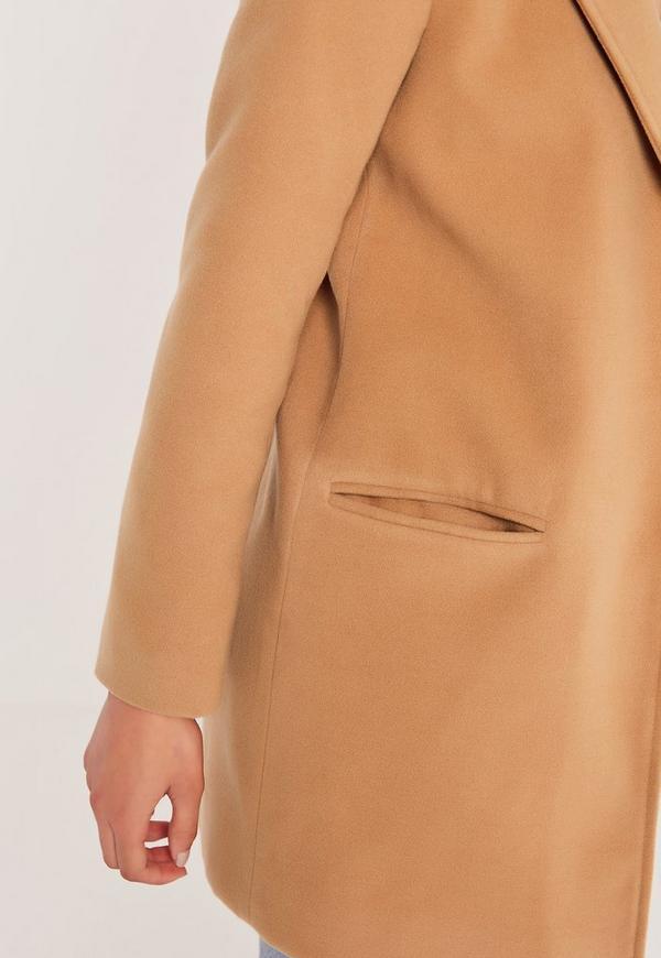 Manteau court femme couleur camel