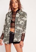 Camo Utility Jacket Khaki