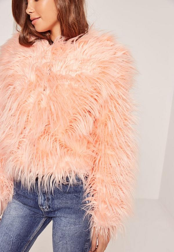d0ecbda8b870c Pink Mongolian Faux Fur Coat | Missguided
