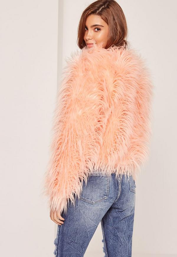 Pink Mongolian Faux Fur Coat | Missguided