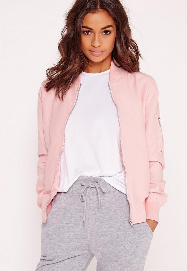 Lightweight Bomber Jacket Pink | Missguided