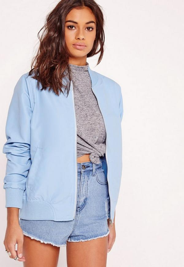 Lightweight Bomber Jacket Blue