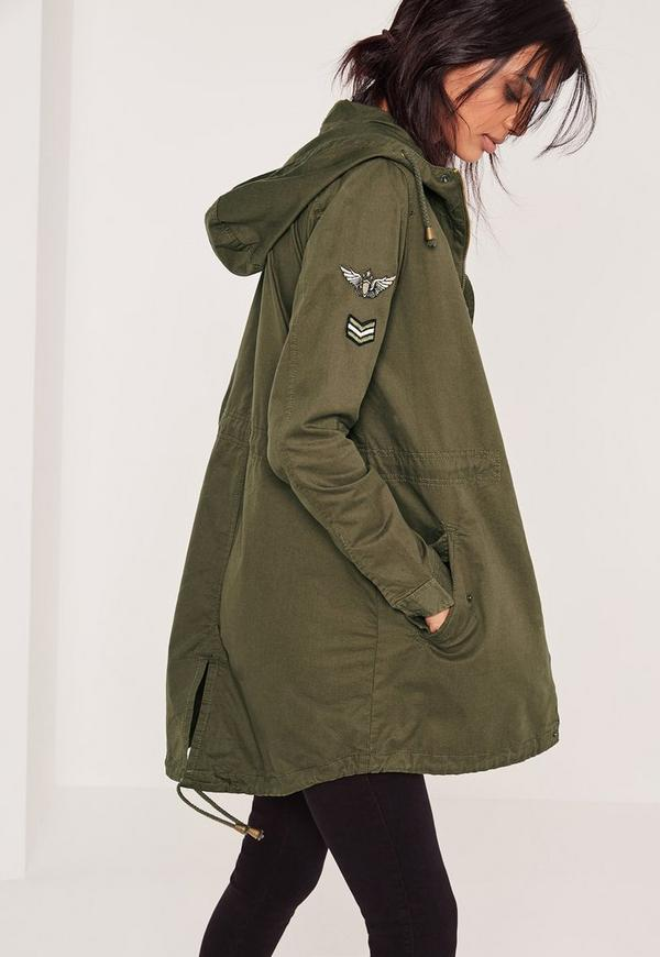 Military Parka Jacket Khaki