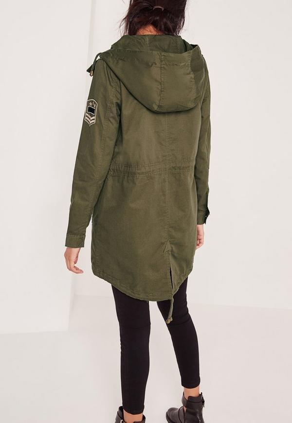 Military Parka Jacket Khaki | Missguided