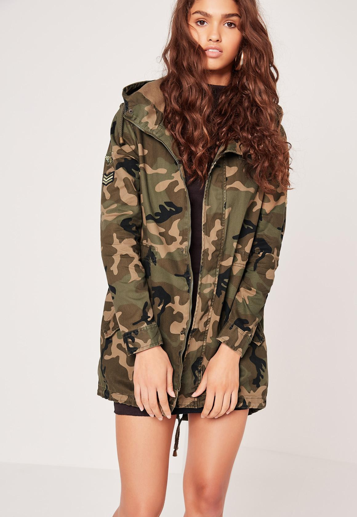 Famous CAMO MILITARY PARKA JACKET | Missguided NA16